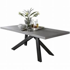 Pieds De Table : soldes pied de table moderne en fer 136x72 cm coloris ~ Farleysfitness.com Idées de Décoration