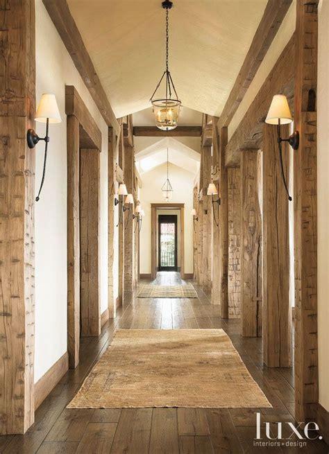 colorado homes rustic hallway  illuminated