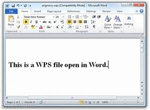 The easy way to convert microsoft works wps files to for Convert wps file to word