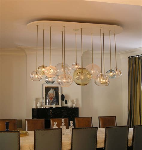 Glass Chandeliers For Dining Room by Attractive And Lovely Modern Dining Room Lighting Ideas