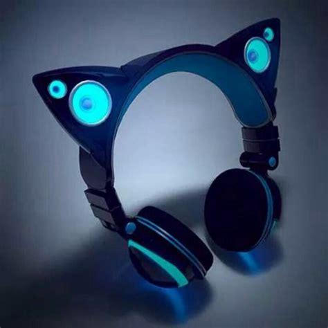 headphones with light up cat ears light up cat ear headphones on the hunt