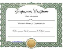 search results for printable free gift certificates uk With godparent certificate template
