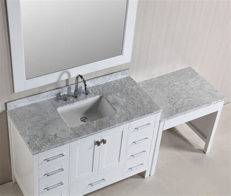 Single Sink Bathroom Vanity Set by Hyde 48 Single Sink Vanity Set In White Finish