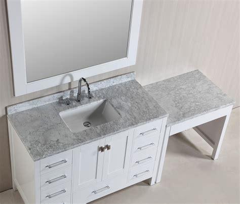 Sink Bathroom Vanity With Makeup Table by Hyde 48 Single Sink Vanity Set In White Finish