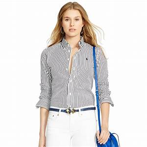 Lyst - Polo Ralph Lauren Custom-fit Striped Shirt in Black