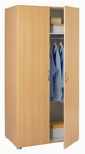 Armoire 6 Portes : armoire 2 portes essentiel hetre l 80 x h 166 6 x p 51 ~ Teatrodelosmanantiales.com Idées de Décoration