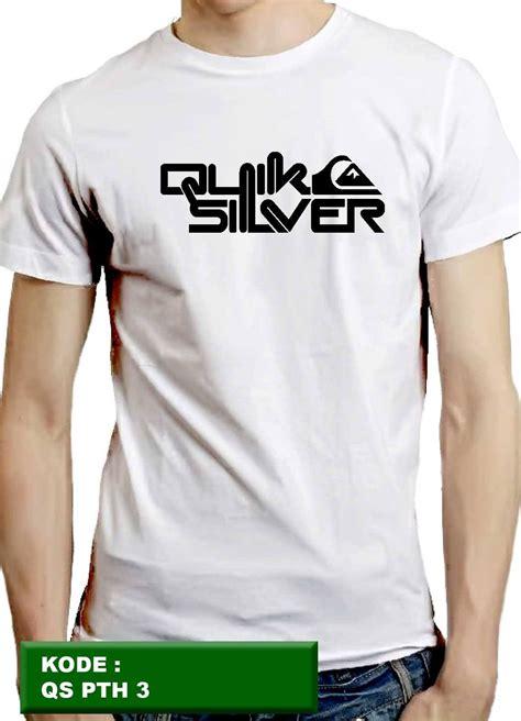 jual kaos quiksilver kaos pria kaos cowok kaos distro t shirt putih 3 listonscloth di