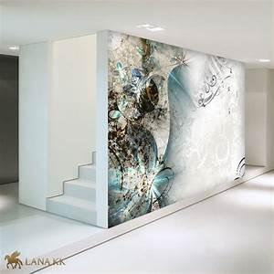 Tapete Blau Braun : lana kk edel fototapete vliestapete kunstdruck abstrakt deko magic braun blau ebay ~ Sanjose-hotels-ca.com Haus und Dekorationen