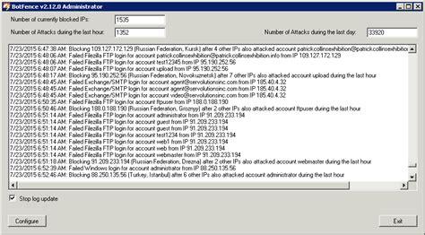 botfence auto block hackers ip addresses