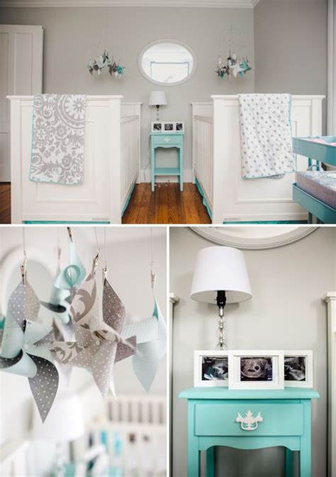 gray and aqua twins nursery paint color gray owl by