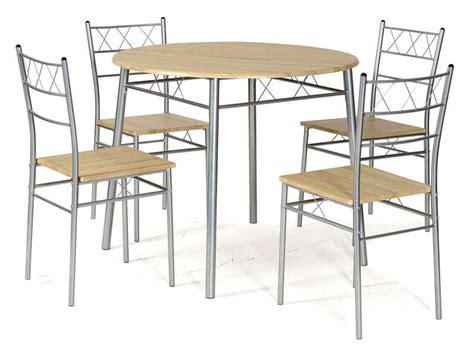 conforama table de cuisine et chaises ensemble table ronde et 4 chaises de cuisine lota coloris
