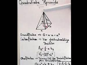 Quadratische Pyramide A Berechnen : quadratische pyramide berechnung youtube ~ Themetempest.com Abrechnung