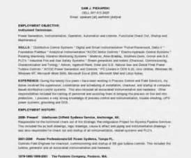 instrumentation technician resume exles exle resume resume format kuwait
