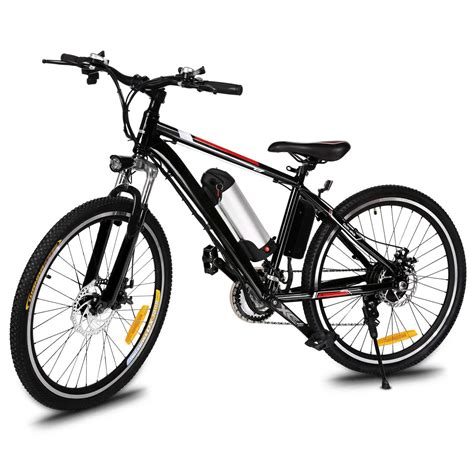 Ancheer Black Electric Mountain Bicycle Ebike Lithium 250w Led Headl Ebay