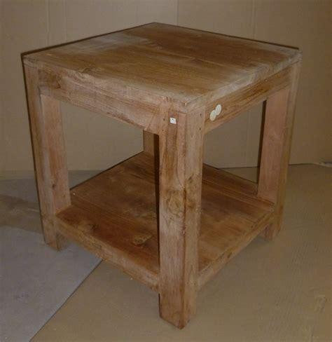 Bware Beistelltisch Teak Holz Gartentisch Tisch Garten