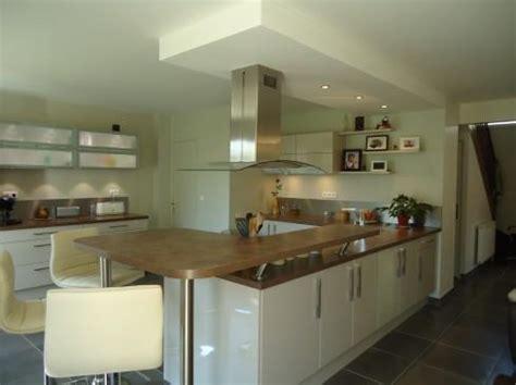 d馗o cuisine ouverte cuisine ouverte avec table haute ecolooking photo n 48