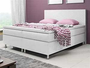 Boxspringbett 180x200 Weiß : inter handels boxspringbett madrid 180x200 wei real ~ Watch28wear.com Haus und Dekorationen