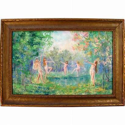 Impressionist Oil Painting Artist Freeman Signed American