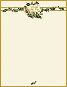 vintage christmas holly letterhead 25 sheets With christmas letter paper letterhead
