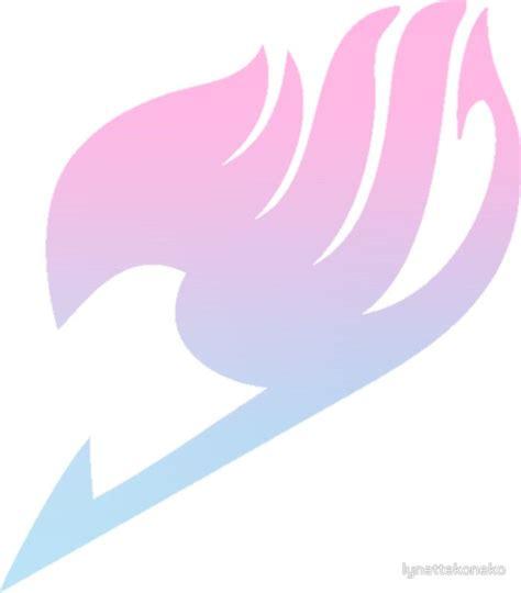 pink blue gradient fairy tail logo  lynettekoneko