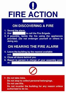 Meal Planning Chart Fire Action Signs Poster Template