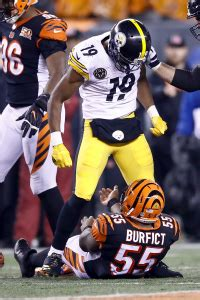 steelers smith schuster bengals iloka banned  game