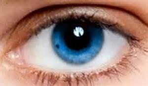 Sapphire Blue Color Eyes Human