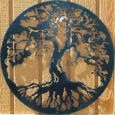 Tree Of Life Metal Wall Art Home Decor Chameleon Teal  Ebay