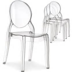 Chaise En Polycarbonate Pas Cher by Lot De 4 Chaises Diva Plexi Transparent Achat Vente