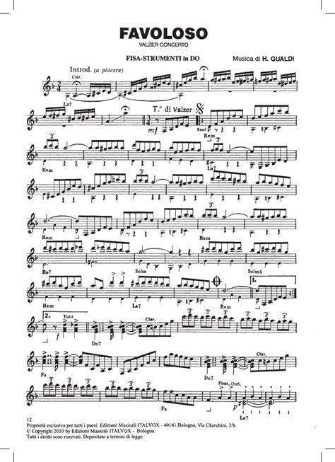 valzer delle candele spartito h gualdi quot favoloso quot valzer clarinetto mp3 italvox