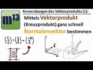 Kreuzprodukt Berechnen Trick : normalenvektor mittels vektorprodukt kreuzprodukt berechnen youtube ~ Themetempest.com Abrechnung