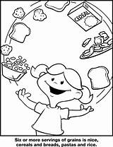 Cereals Coloring Wiggly Piggly Print sketch template