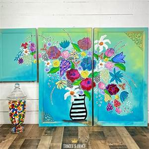 Floral, Kitchen, Cabinets, With, A, Boho, Whimsy, Vibe