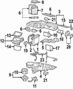 2009 Chevrolet Silverado 2500 Evaporator And Heater Parts Diagram