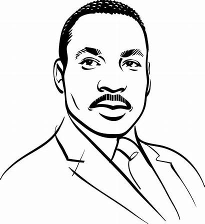 Luther Martin King Draw Jr Dr Portrait