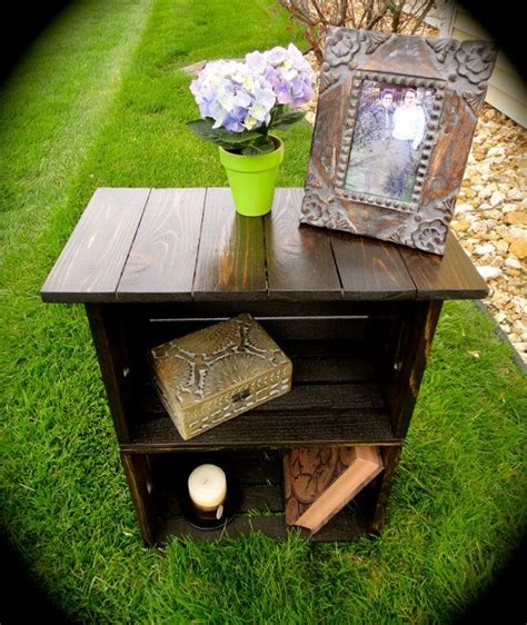 Crate Nightstand Diy by Best 25 Crate Nightstand Ideas On Wooden