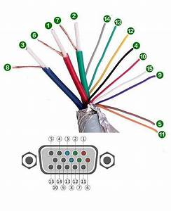 Vga Cable Pinout Color Code Wiring Diagram