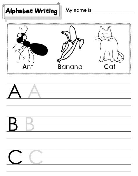 kindergarten alphabet worksheets printable activity shelter 726 | kindergarten alphabet worksheets ABC