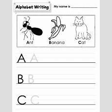 Kindergarten Alphabet Worksheets Printable  Activity Shelter