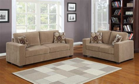 homelegance paramus sofa set brown corduroy u9738 3