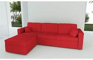 Canape d39angle convertible 4 a 5 places en coton couleur for Tapis rouge avec canapé avec méridienne amovible