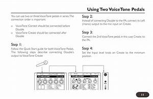 Using Two Voicetone Pedals