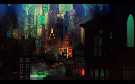 transistor video games cityscape wallpapers hd desktop