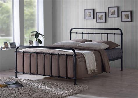 black bed frame time living miami 4ft6 black metal bed frame by 4757