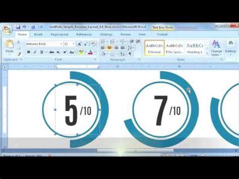resume template   modify circle chart  ms word