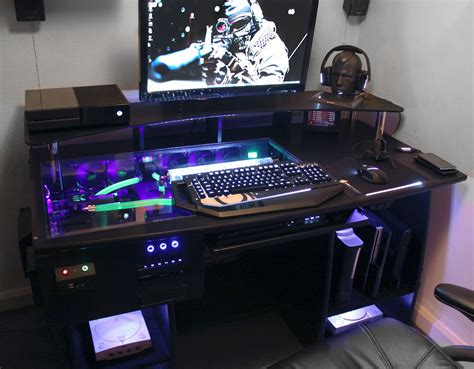 custom built gaming desk ultimate gaming pc custom desk build log youtube
