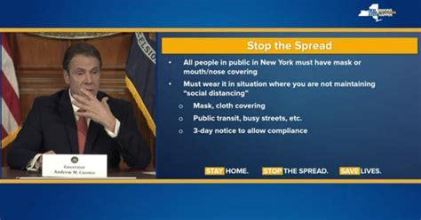 york  require face masks  public governor cuomo