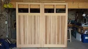 fabrication bois porte de garage a pornic 44210 With porte de garage enroulable avec fabrication porte bois