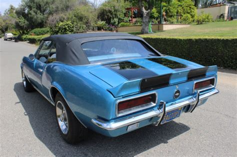 Chevy Camaro Rs Convertible by 1967 Chevy Camaro Convertible Rs 327 Marina Blue Classic