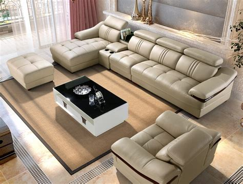 Imported Sofa by Imported Sofas Ivory Sectional Living Room 6pieces Set